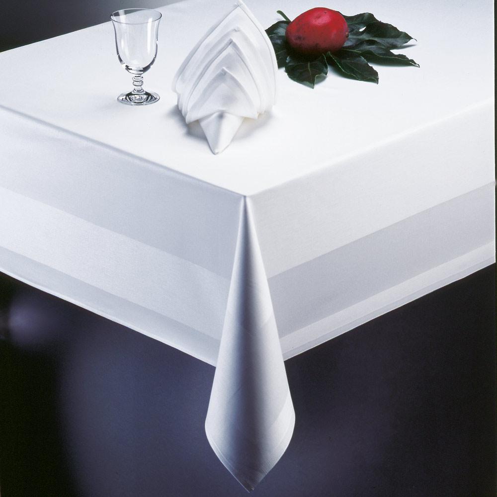 catering edition tischdecke wei atlaskante 130x190 cm mehrweg tischw sche servietten tisch. Black Bedroom Furniture Sets. Home Design Ideas