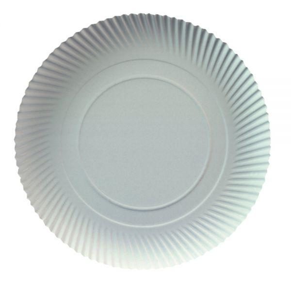 20 Stück ca Teller weiß aus Pappe 23 cm Einwegteller Partyteller