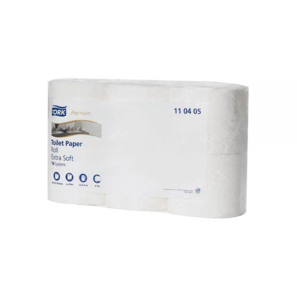Tork extra weiches Kleinrollen Toilettenpapier Premium – 4-lagig, - Weiß - T4 (7x6 Rollen pro VE)