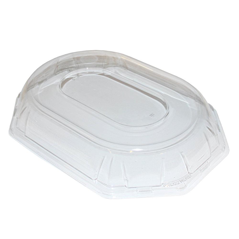 deckel f r pet partyplatte octagonal 36 x 24 cm transparent 25 st ck catering verpackung. Black Bedroom Furniture Sets. Home Design Ideas