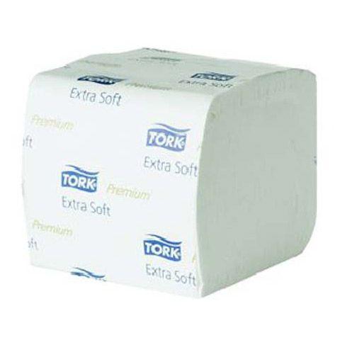 Tork extra weiches Einzelblatt Toilettenpapier Premium – 2-lagig,- Weiß - T3 (30x252 Blatt pro VE)