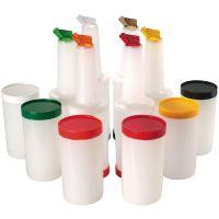 Vorratsbehälter mix vorratsbehälter pp deckel ausgießer rot portionierer