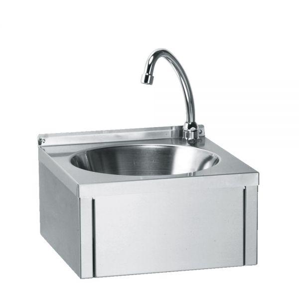 handwaschbecken kniebedienung 33x33 cm handwaschbecken edelstahlm bel technoluchs. Black Bedroom Furniture Sets. Home Design Ideas