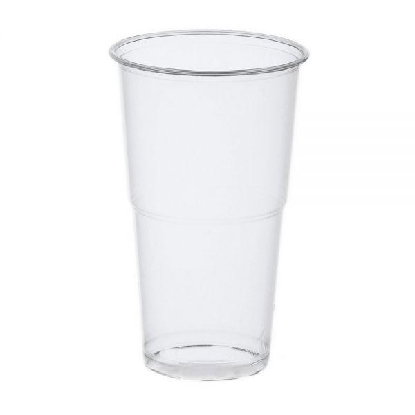 transparent  0,5 Liter Bierbecher 120 Stück Trinkbecher Einweg Plastik Becher